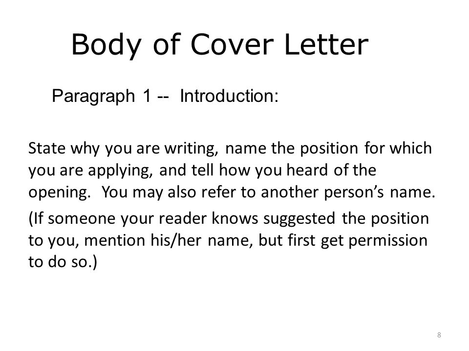 COVER LETTER WRITING WORKSHOP - ppt video online download