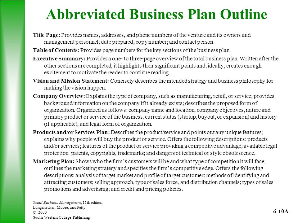 The Role of the Business Plan - ppt video online download