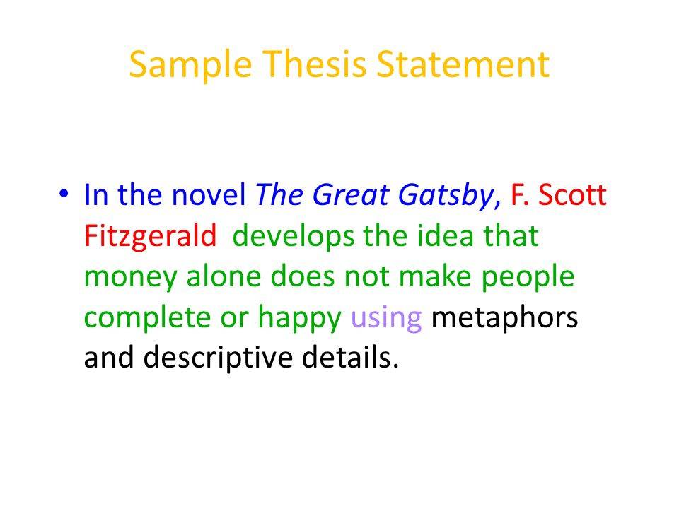 Examples Of Thesis Statements For Literary Analysis Essays - How to