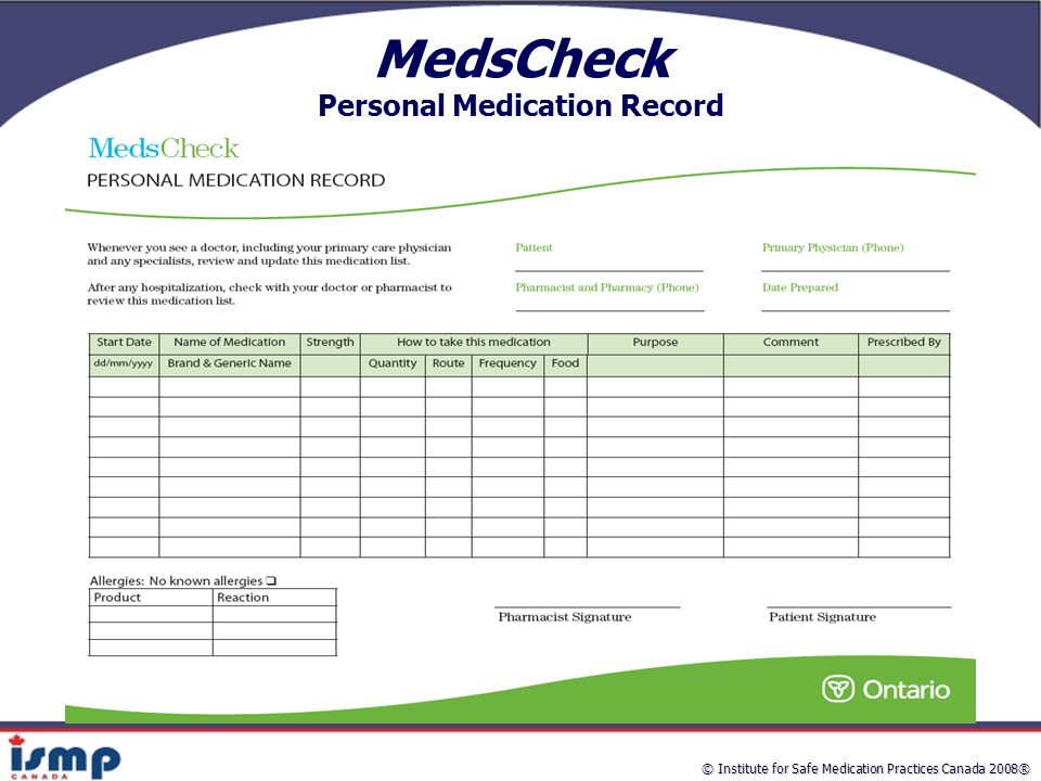 MedsCheck and Hospital Medication Reconciliation Improving Patient