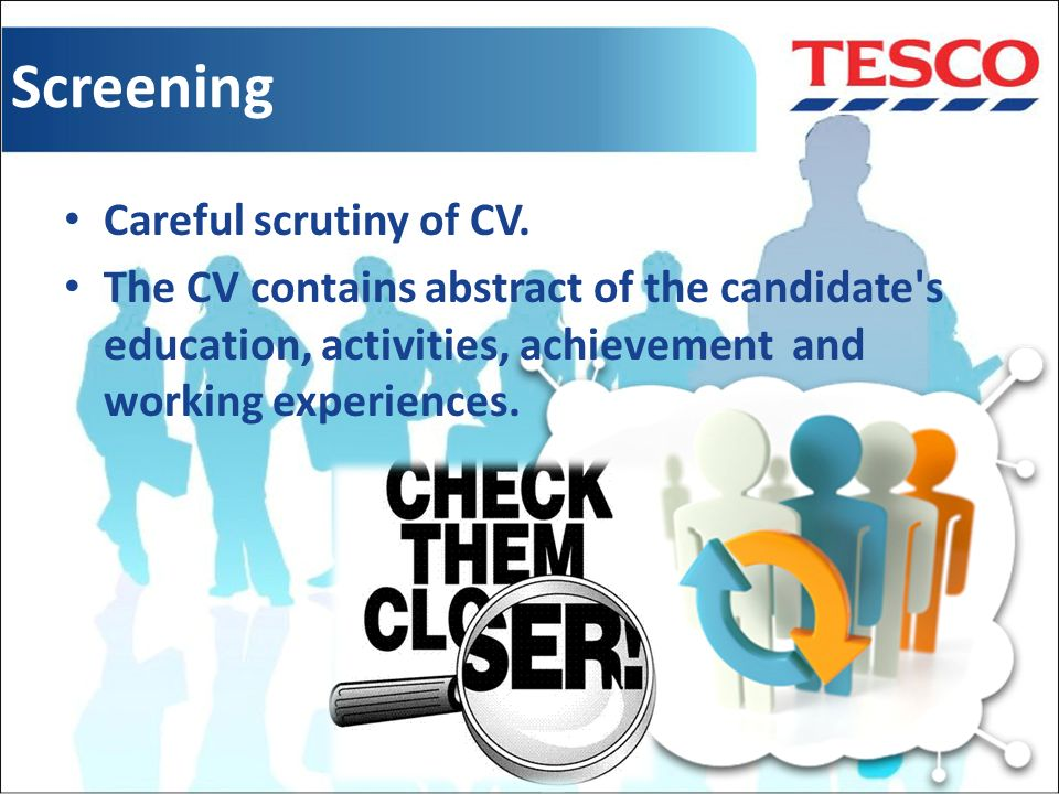 Selection Procedure of TESCO - ppt video online download - tesco cv