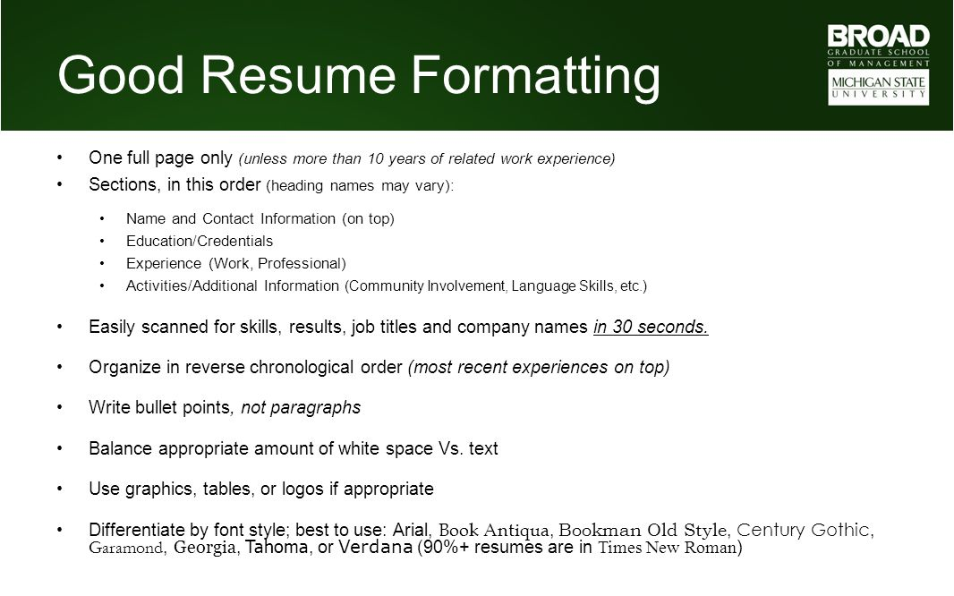 MBA Career Services Center Resume Tutorial - ppt video online download