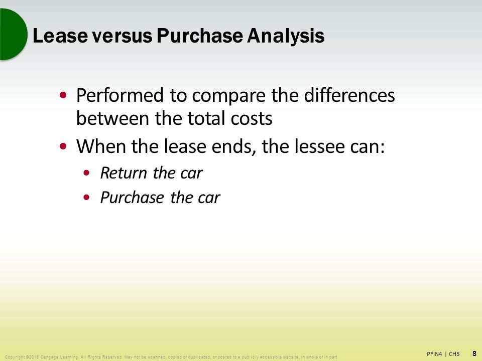 PFIN 5 4 Making Automobile and Housing Decisions - ppt download
