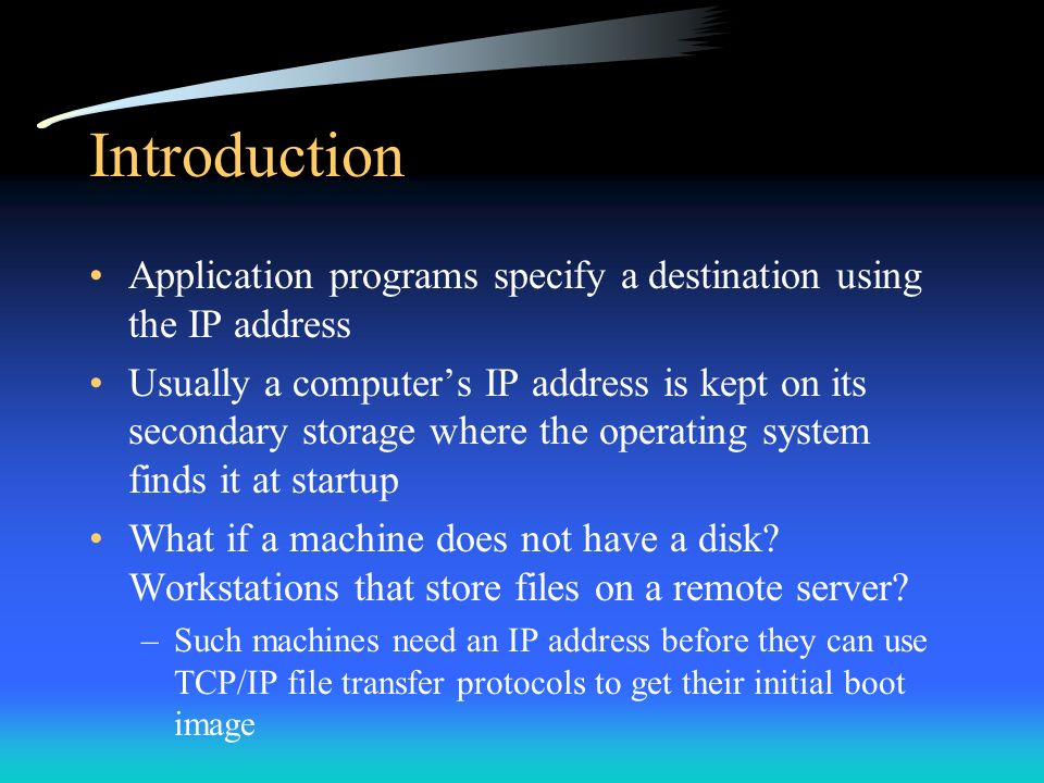 Determining an Internet Address at Startup - ppt video online download