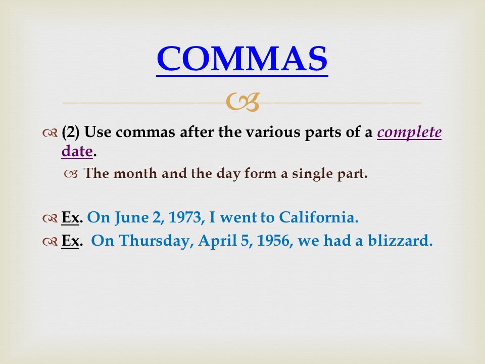 COMMA RULES PUNCTUATION - ppt download - comma and and