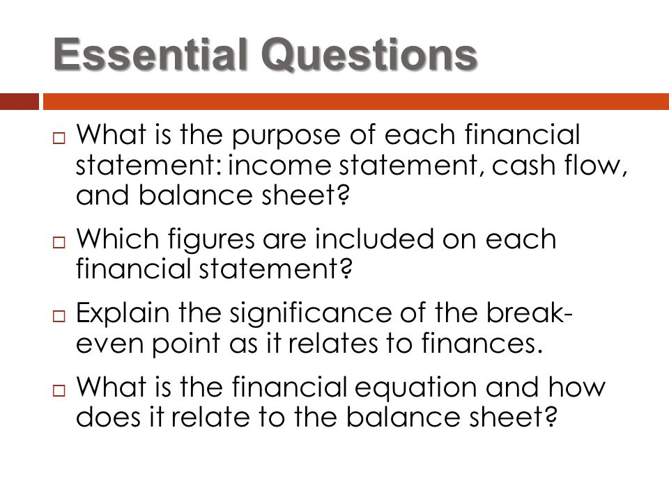 Financial Statements Business Management - ppt video online download