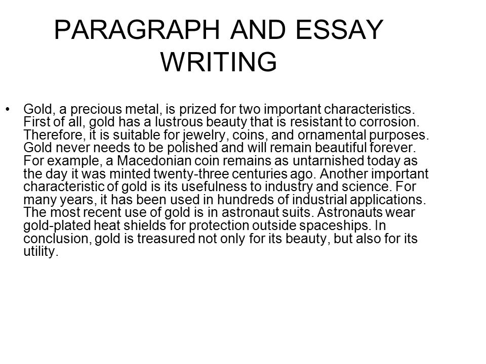 PARAGRAPH AND ESSAY WRITING - ppt video online download