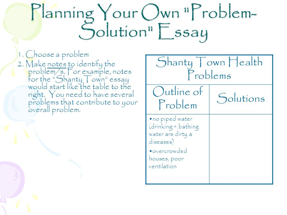 Problem/ Solution Expository Essay - ppt download