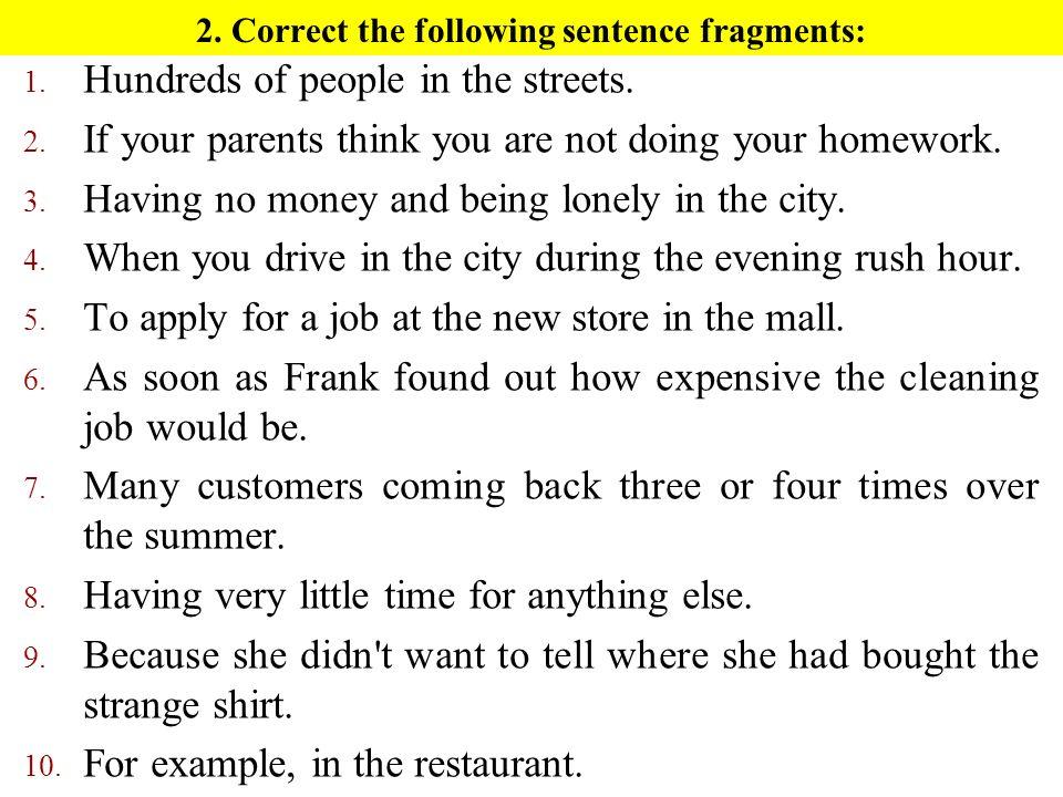 Avoiding Sentence Fragments - ppt video online download