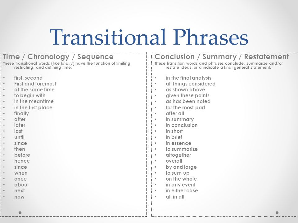 transition words in french for essays Library and learning services study guide | sentence starters www2eitacnz/library/onlineguides/sentence starterspdf sentence starters, transitional and other.