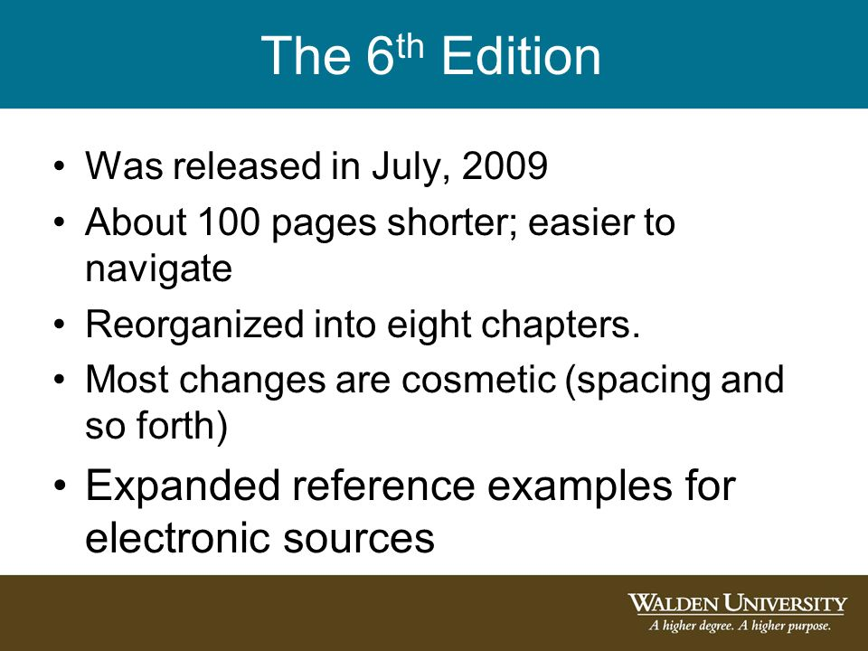 Introduction to 6th Edition APA Citations and References - ppt
