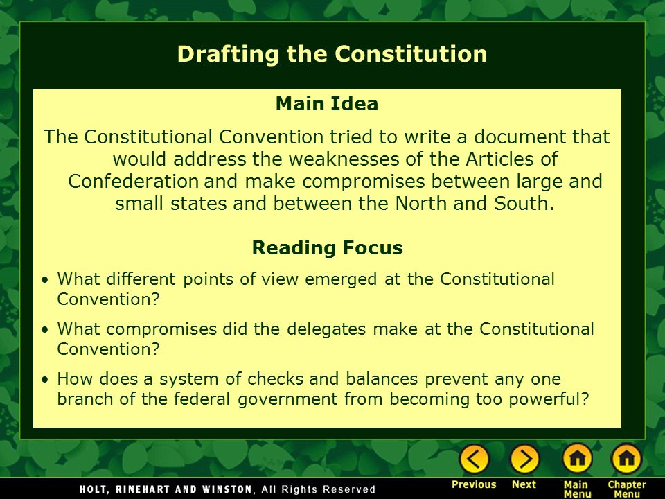 Drafting the Constitution - ppt video online download