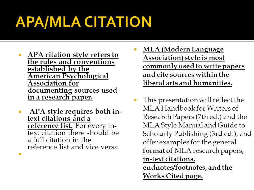 APA/MLA Citation Styles - ppt video online download