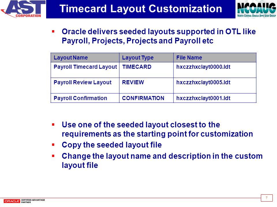 Understanding OTL Timecard Customizations - ppt video online download