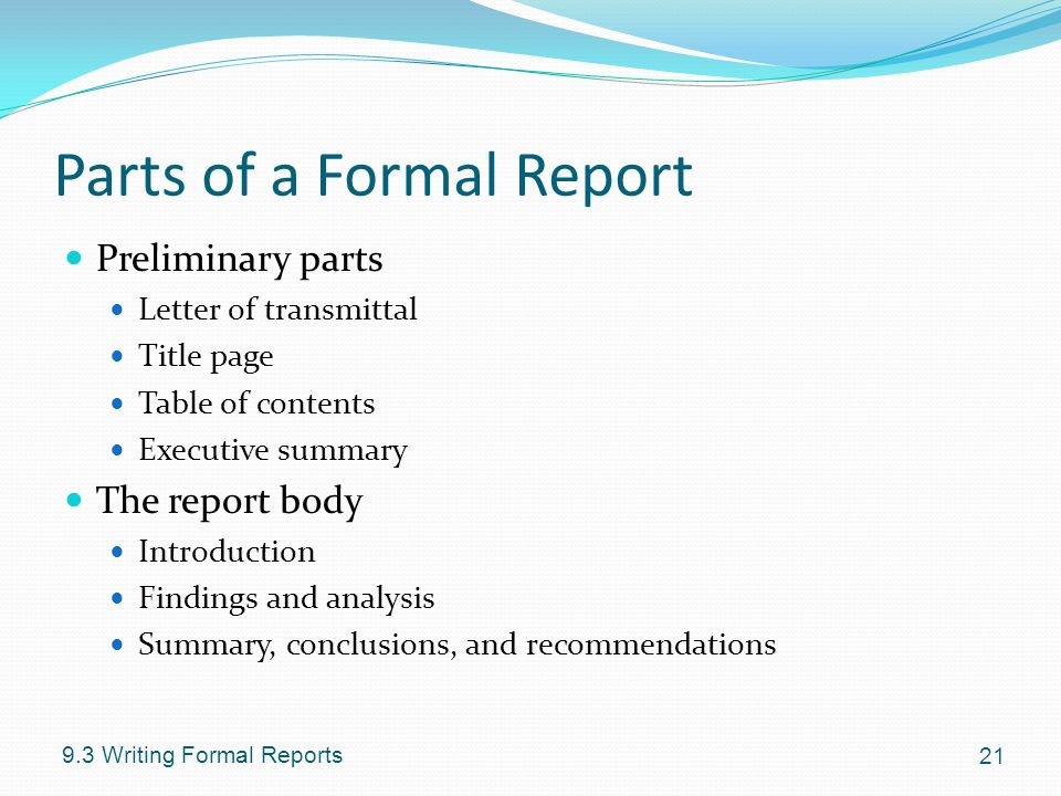 Chapter 9 Writing Reports - ppt video online download