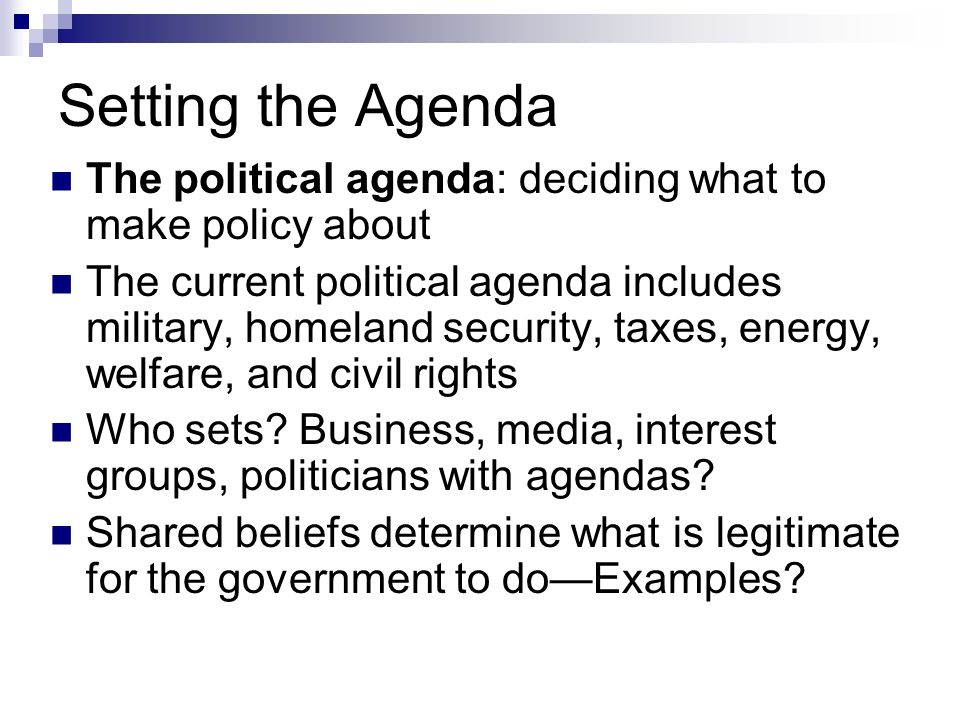 Policy-Making Processes - ppt video online download