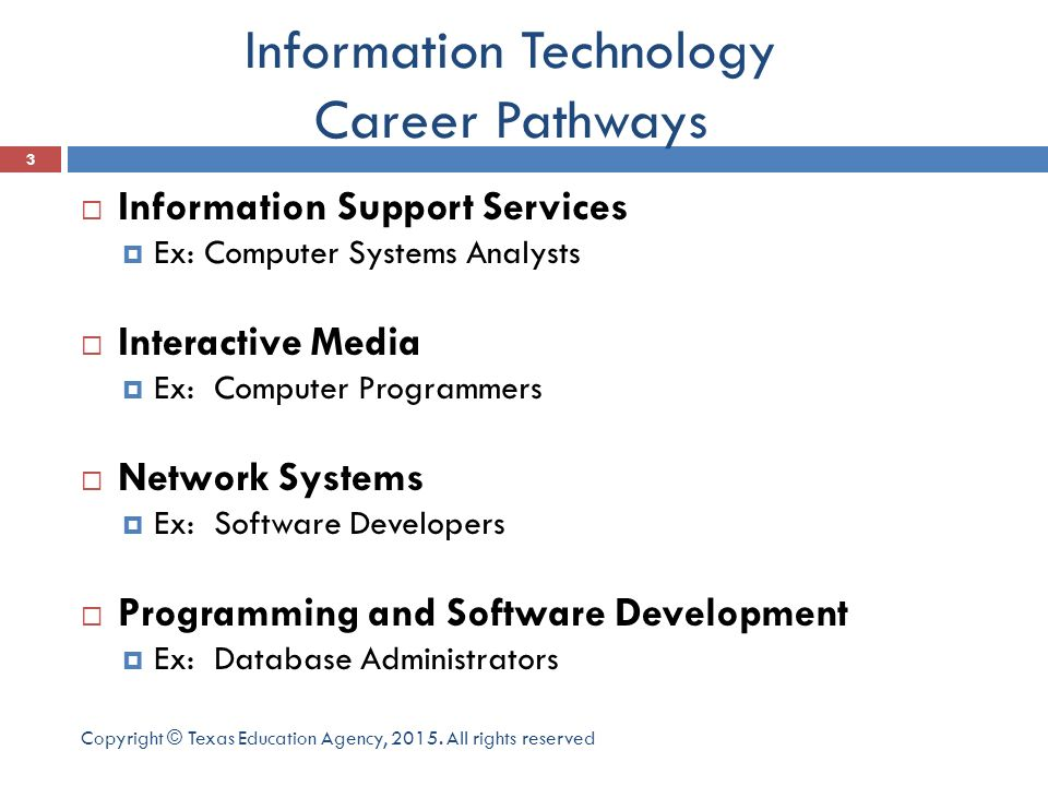 What is the Information technology career cluster? - ppt video