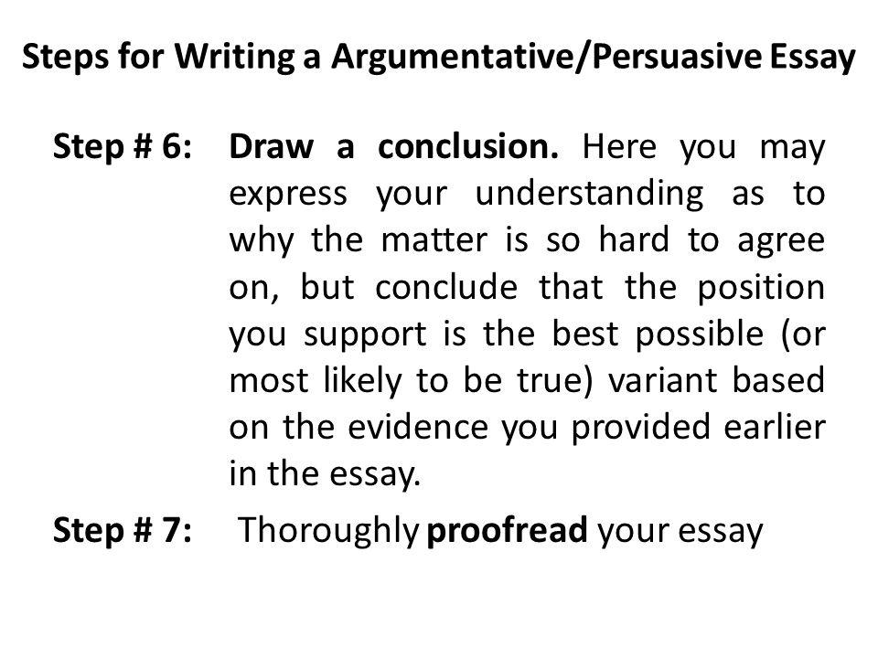 Argumentative/ Persuasive Essay - ppt download