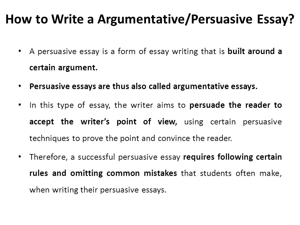 Write my argumentation persuasion essays