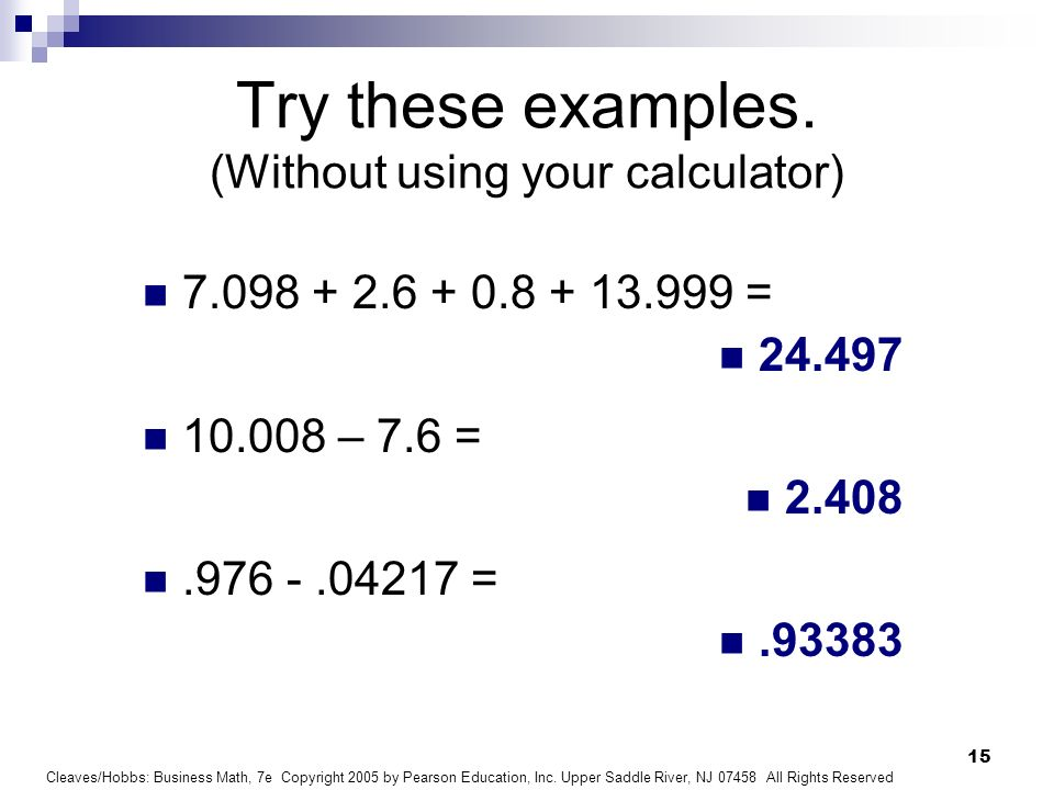 Business Math Chapter 3 Decimals - ppt download