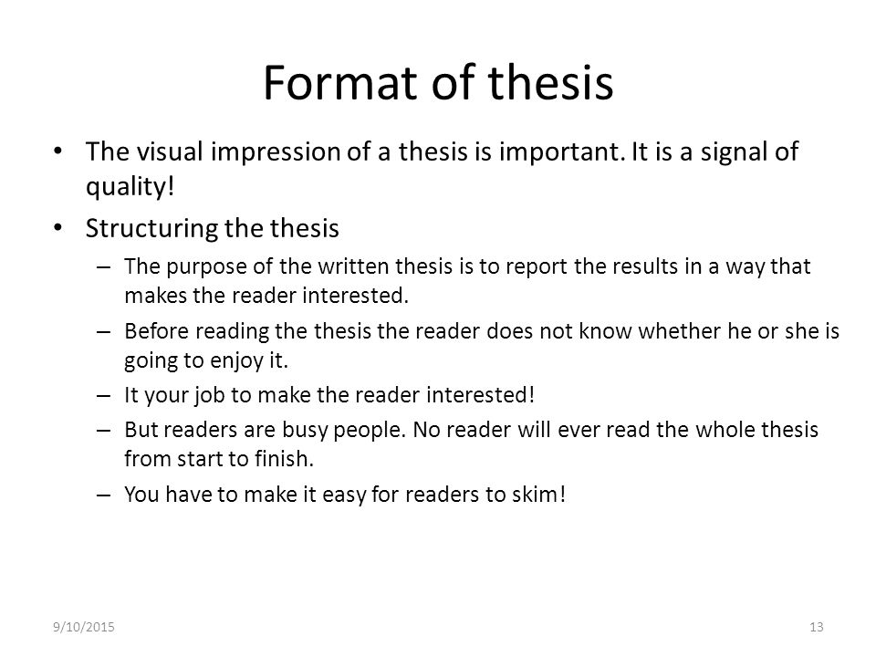 Format of thesis writing Custom paper Academic Service