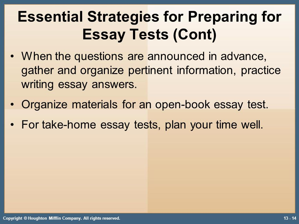 Developing Strategies for Recall, Math, and Essay Tests - ppt download