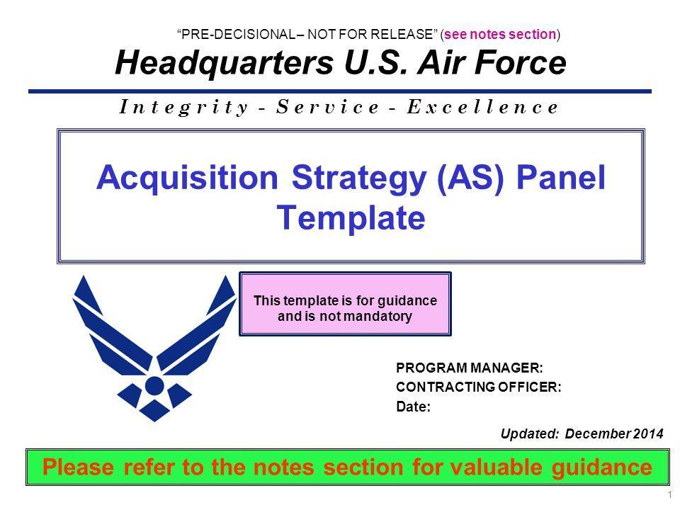 Acquisition Strategy (AS) Panel Template - ppt download - acquisition strategy