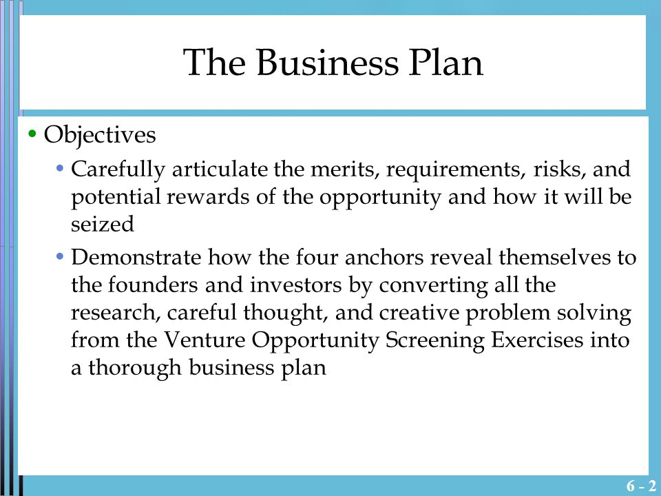 The Business Plan - ppt video online download
