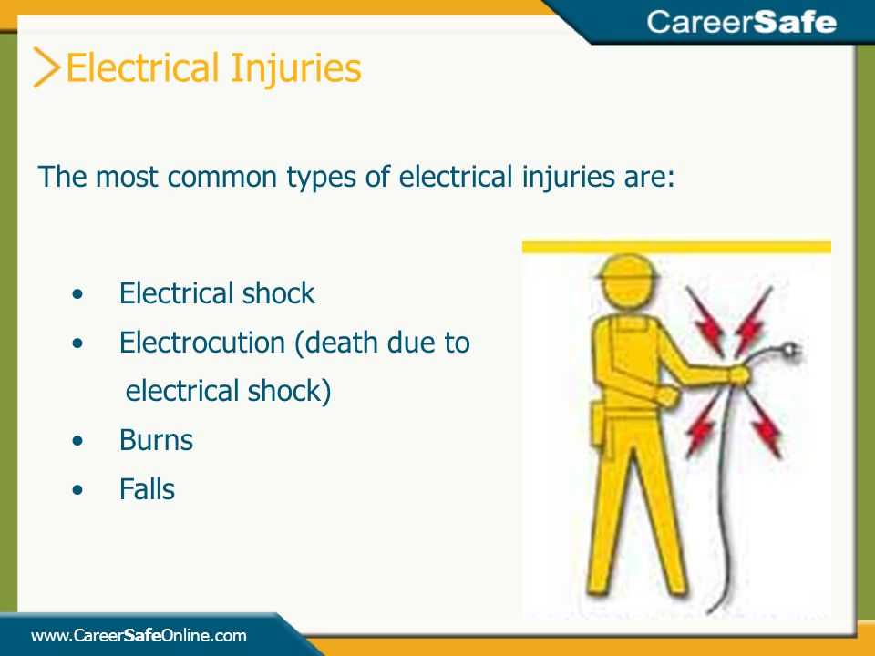 what are the 4 main types of electrical injury