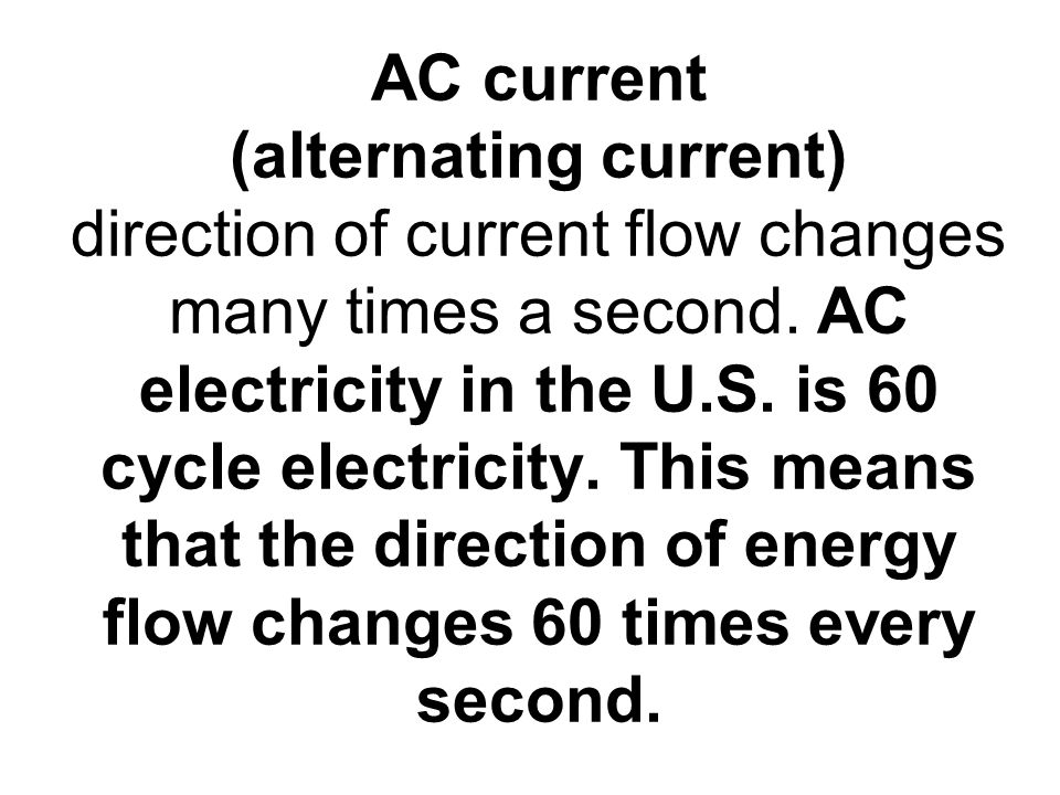 direction of current flow in a circuit