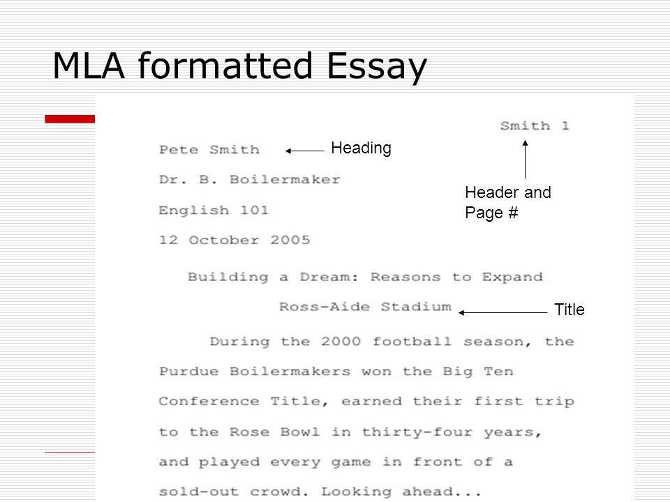 Essay headings mla format Custom paper Academic Writing Service - Mla Format For Word