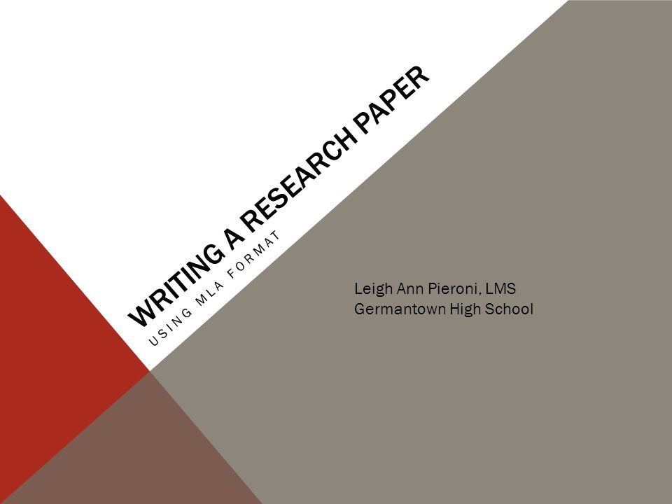 Writing a research paper - ppt video online download - sample mla research paper high school