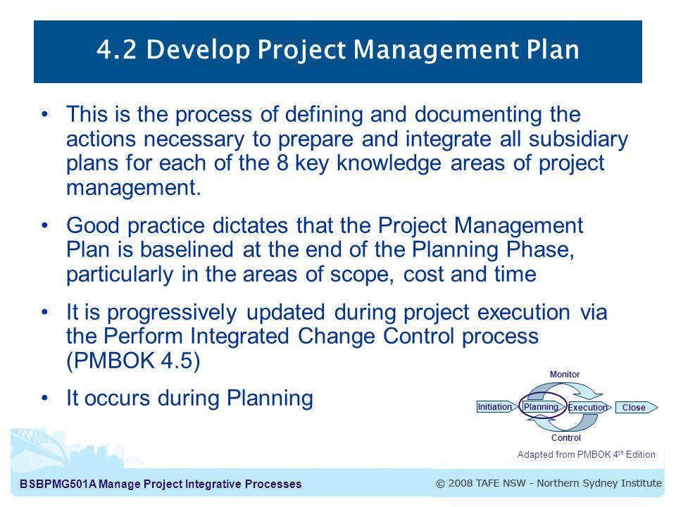 42 Develop Project Management Plan - ppt video online download
