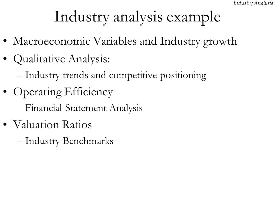 Industry Analysis - ppt video online download