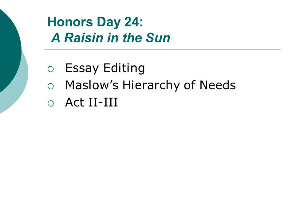 Honors Day 24 A Raisin in the Sun - ppt video online download