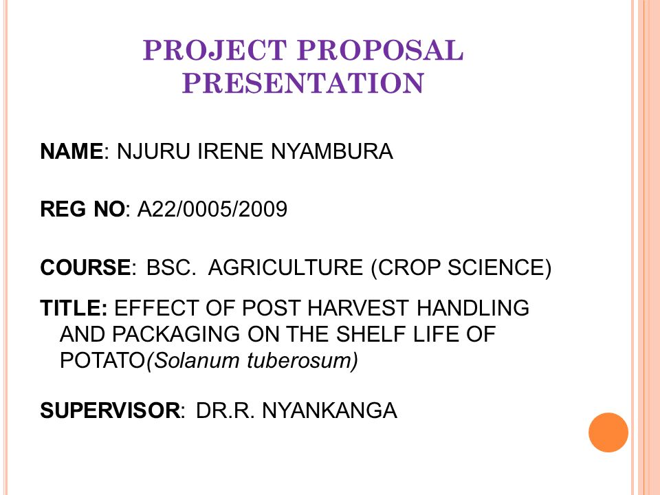 PROJECT PROPOSAL PRESENTATION - ppt video online download