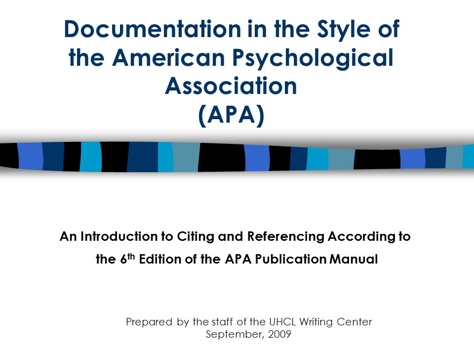An Introduction to Citing and Referencing According to - ppt video
