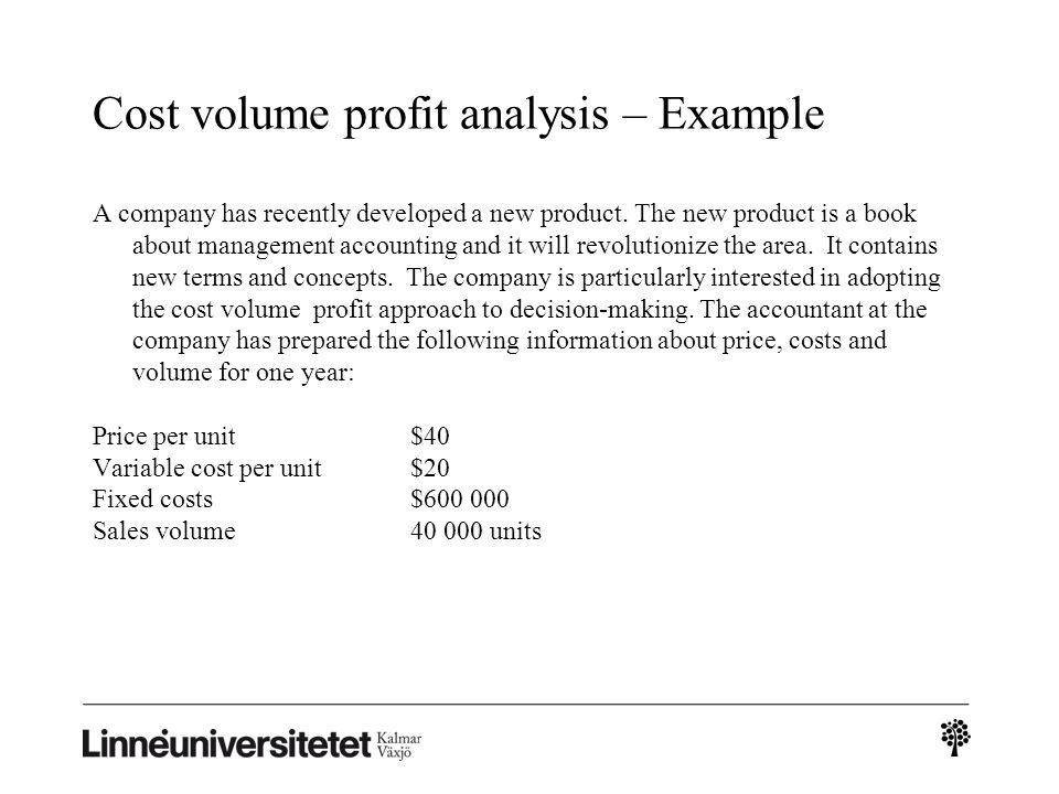 Introduction to revenue, cost and profit terms Variable and fixed - cost of sales analysis