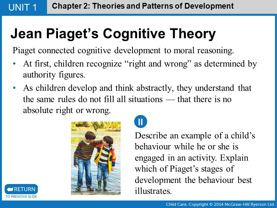 Jean piaget theory of cognitive development Custom paper Help - piaget's theory