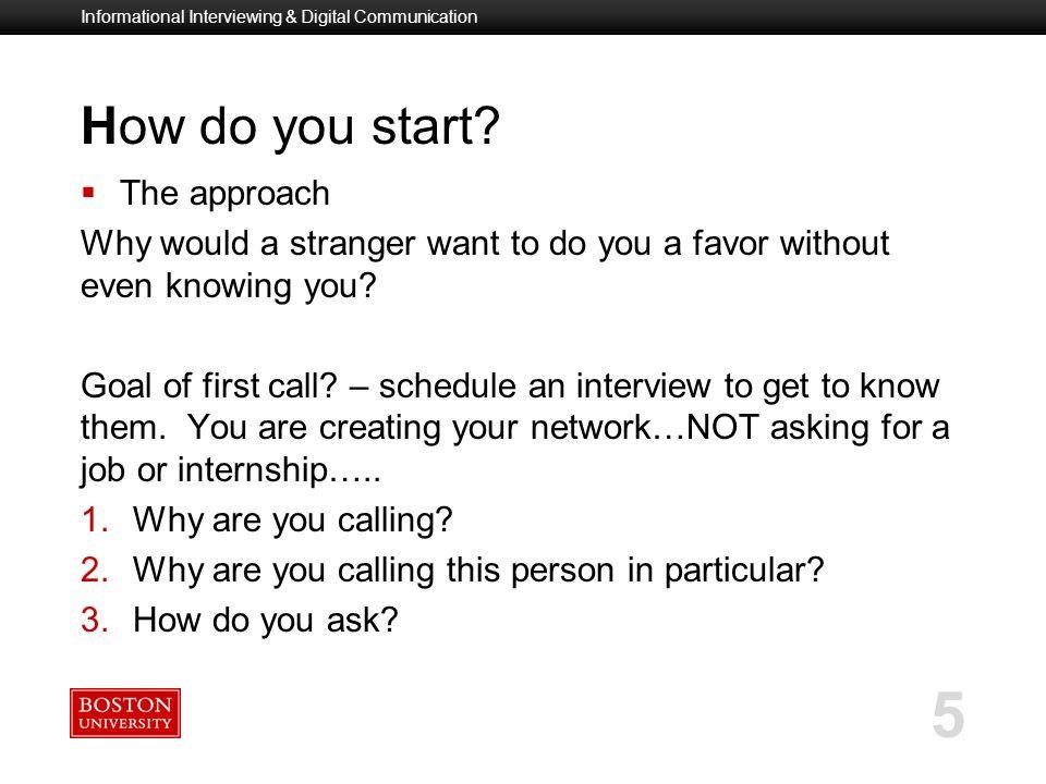 Informational Interviewing  Digital Communication - ppt video