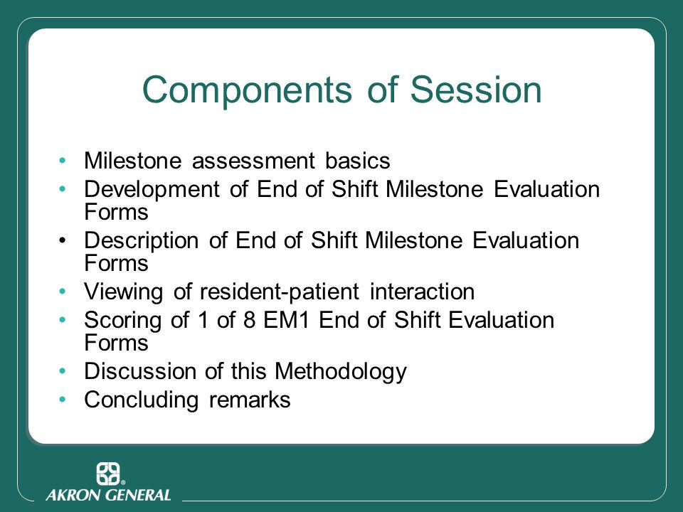 End of Shift Milestone Evaluation Forms - ppt video online download
