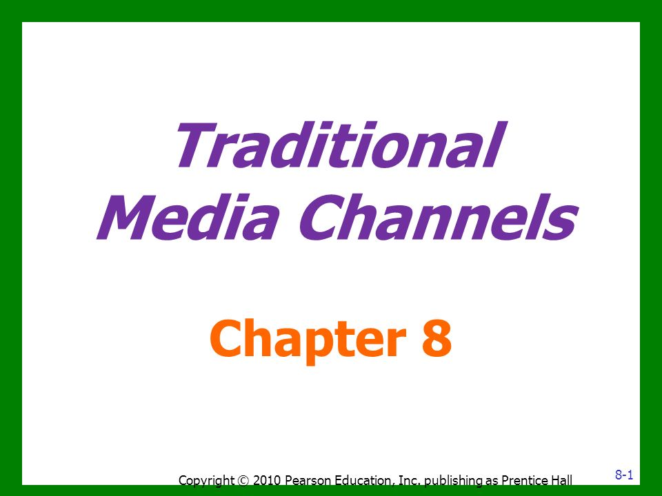 Traditional Media Channels - ppt video online download