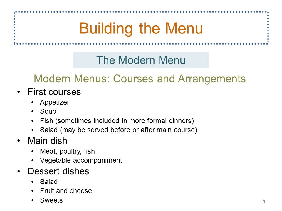 Menus, Recipes and Cost Management - ppt download