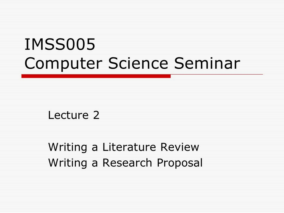 Literature Review Example Computer Science - Literature reviews