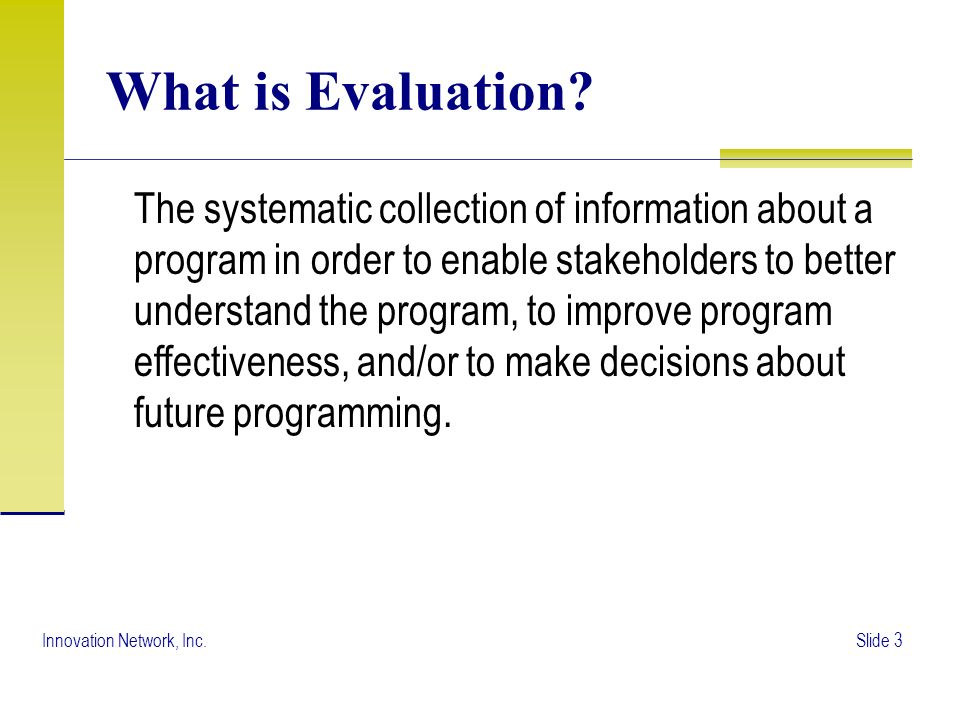 The Evaluation Plan - ppt video online download