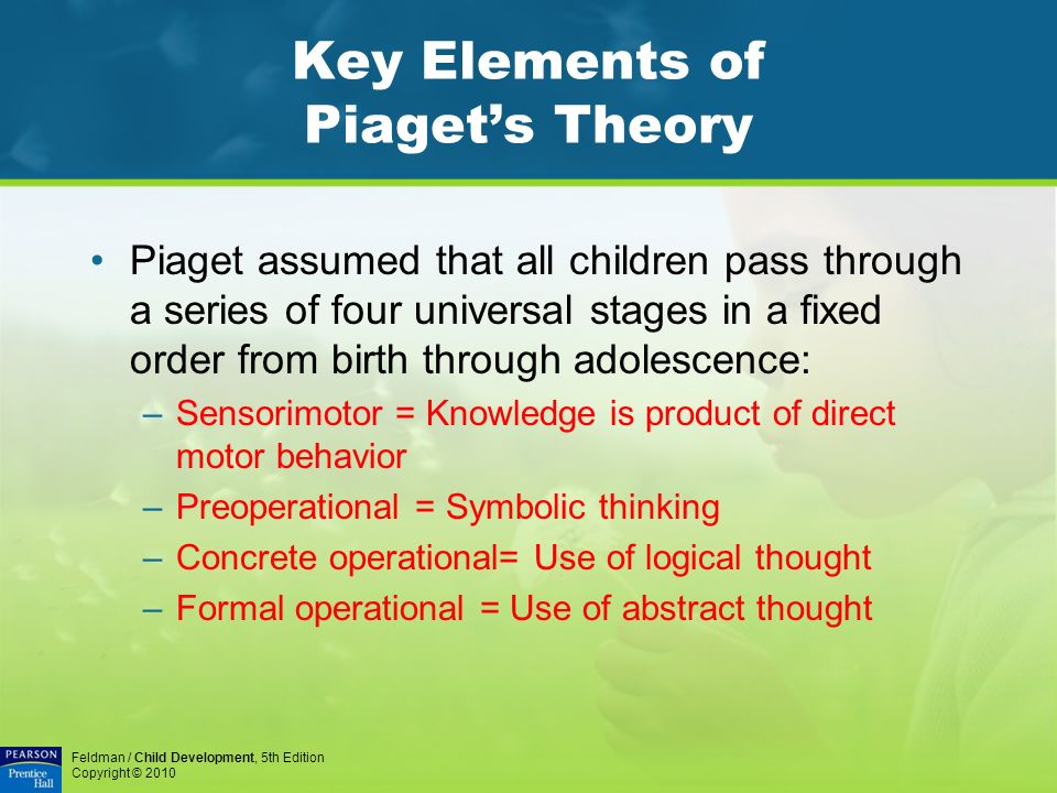 Chapter 6 Key Questions What are the fundamental features of - piaget's theory