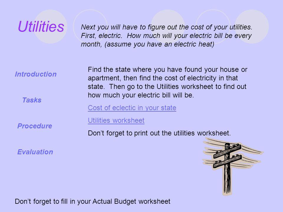 Budget WebQuest Introduction - ppt download - Apartment Budget Sheet