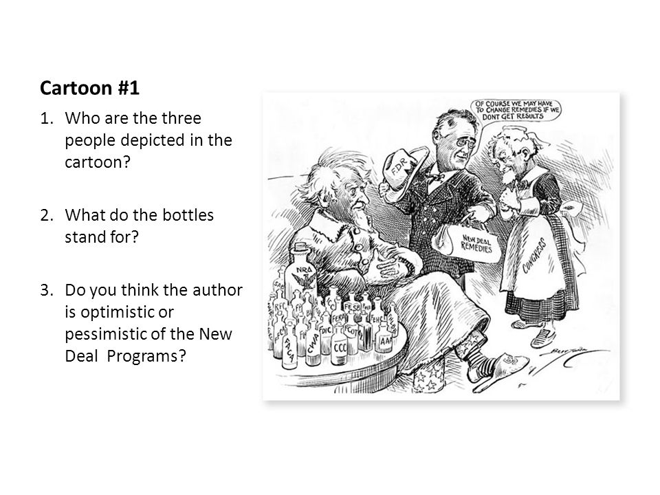 New Deal Political Cartoons - ppt video online download