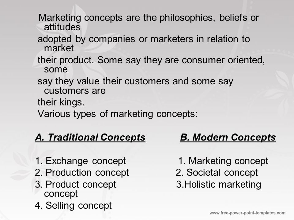Marketing Concepts - ppt video online download