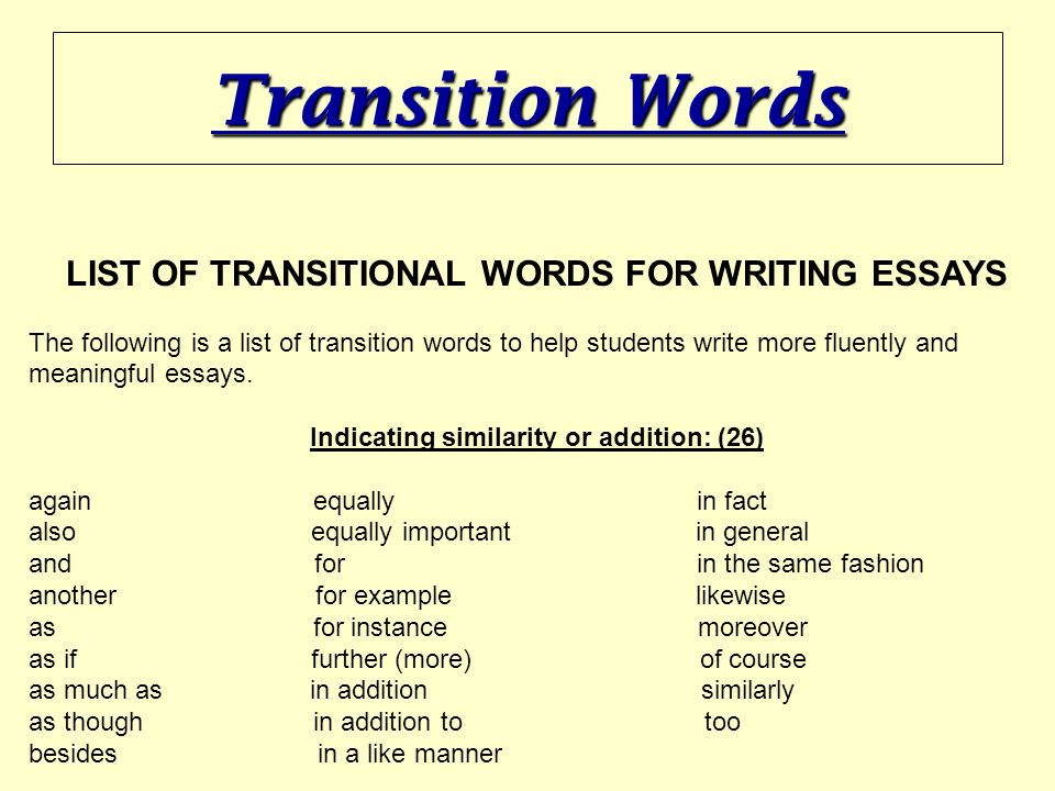 Essay transitional words College paper Help lmassignmentloyh